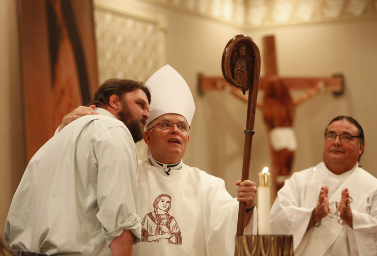 Archbishop Charles J. Chaput of Philadelphia at the annual Tekakwitha Conference in Fargo, N.D. (CNS photo/Nancy Wiechec)