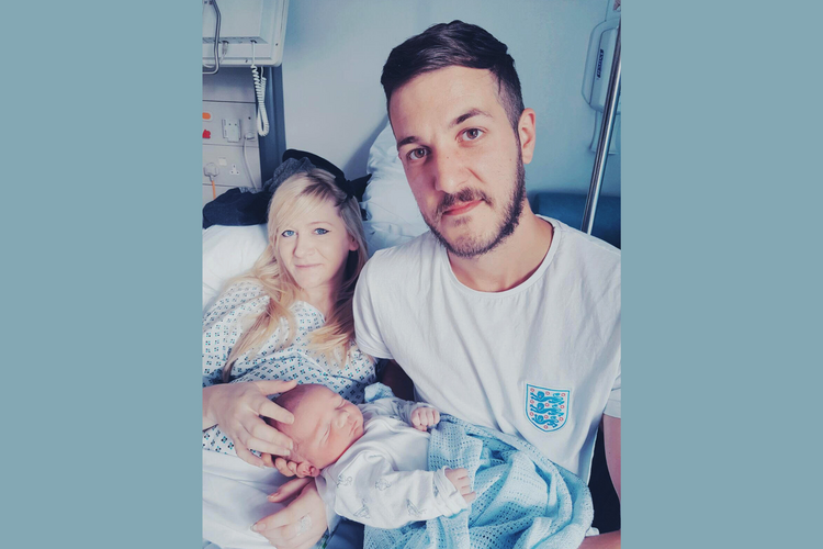 Connie Yates and Chris Gard are pictured with their son, Charlie Gard, who was born with mitochondrial DNA depletion syndrome, in this undated family photo. The U.K. couple have lost their legal battle to keep Charlie on life-support and seek treatment for his rare disease in the United States. (CNS photo/family handout, courtesy Featureworld)