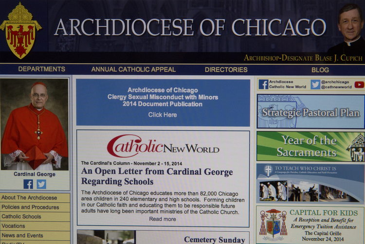 Archdiocese of Chicago releases documents on past clergy sex abuse cases (CNS photo/Chaz Muth)