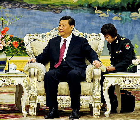 Xi Jinping at meeting in the Great Hall of the People in Beijing, Jan. 10, 2011 (Photo via Wikimedia Commons)