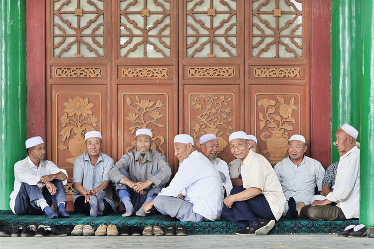 Hui muslims on July 19, 2012 in Yinchuan. Hui is one of the 56 ethnic groups in China.