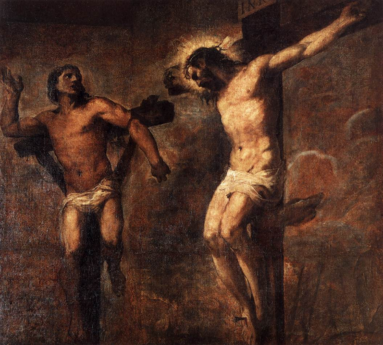 Christ and the Good Thief, Titian 1566