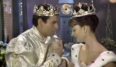 Stuart Damon and Lesley Ann Warren in TV's 1965 adaption of Rogers and Hammerstein's Cinderella