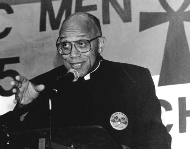 Father George Clements, a Chicago priest who made national headlines when he adopted a son in the early 1980s, has been asked by Chicago Cardinal Blase J. Cupich to step aside from ministry pending the outcome of an investigation into an allegation of sexual abuse of a minor in 1974. (CNS photo/Michael Alexander)