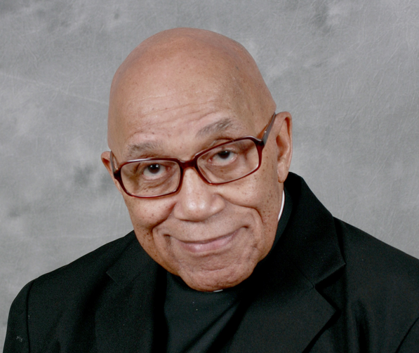 Father George Clements, retired pastor of Holy Angels Church in Chicago, died Nov. 25, 2019, at age 87. Father Clements was active in the civil rights movement and marched with the Rev. Martin Luther King Jr. in Chicago, Alabama and Mississippi. He also was a well-known advocate of adoption and adopted four sons. (CNS photo/Archdiocese of Chicago)