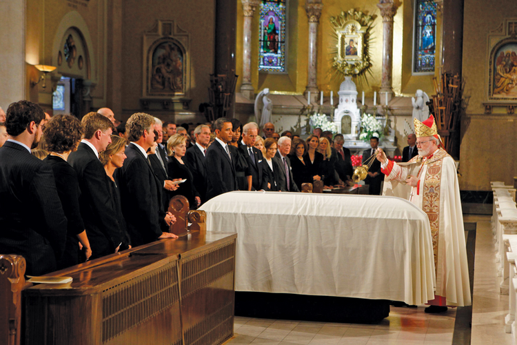 FINAL COMMENDATION. Cardinal Sean P. O'Malley presides at the funeral Mass for Sen. Edward M. Kennedy on Aug. 29, 2009.