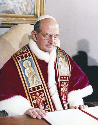 Pope Paul VI at the Vatican.