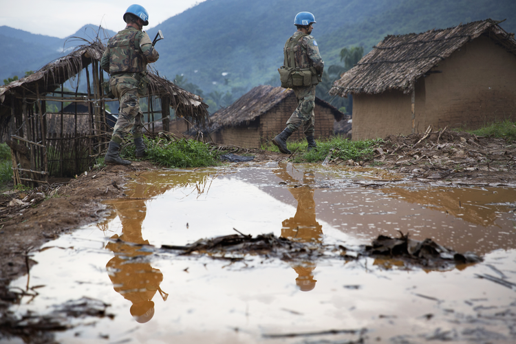 On patrol in North Kivu. Congolese bishops complain UN is not paying attention to troubles in southern Congo (UN Photo/Sylvain Liechti)