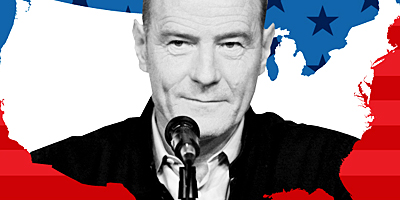 "Bryan Cranston portrayed LBJ in the Robert Schenkkan play, ""All the Way."" Image courtesy of American Repertory Theater."