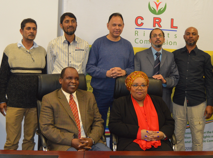 Thoko Mkhwanazi-Xaluva, head of the Commission for the Promotion and Protection of the Rights of Cultural, Religious and Linguistic Communities, seated right, with other CRL members (photo courtesy of CRL)
