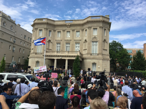 Cuban flag raised in Washington