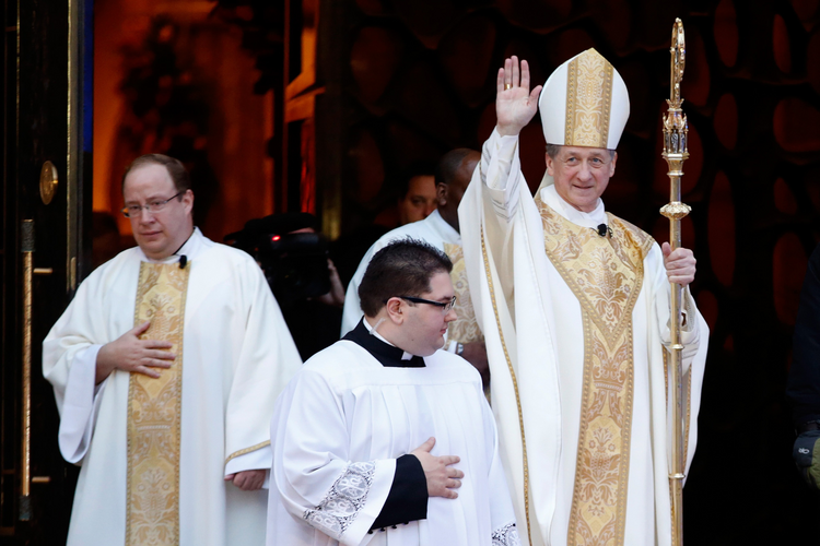 Archbishop Blase J. Cupich exits Holy Name Cathedral after installation as new archbishop of Chicago, Nov. 18 (CNS photo/Andrew Nelles, Reuters)