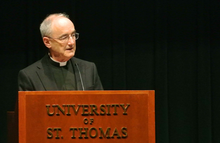 Jesuit Father Michael Czerny pictured at the University of St. Thomas in St. Paul, Minn. in 2014 (CNS photo/Dianne Towalski, The Catholic Spirit).