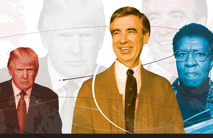 Donald J. Trump, Fred Rogers and Octavia Butler