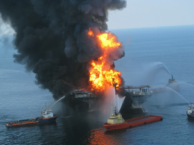The explosion and fire on the Deepwater Horizon offshore drilling rig in the Gulf of Mexico killed 11 workers in April 2010