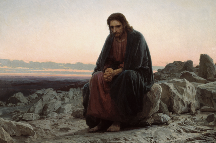 """Christ in the Desert,"" by Ivan Kramskoi"