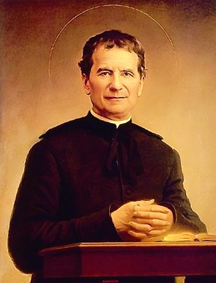 "Saint Don Bosco,  August 16, 1815-January 31, 1888  ""Father and Teacher of Youth"""
