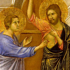 Detail of Doubting Thomas by Duccio di Buoninsenga, 1308