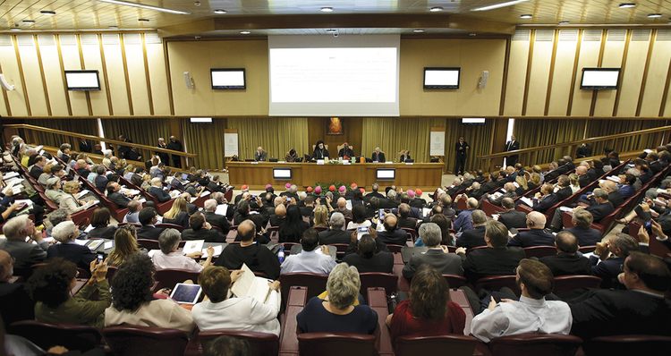 "CALL TO ACTION. Journalists attend a news conference for the presentation of Pope Francis' new encyclical, ""Laudato Si',"" at the Vatican on June 18, 2015."