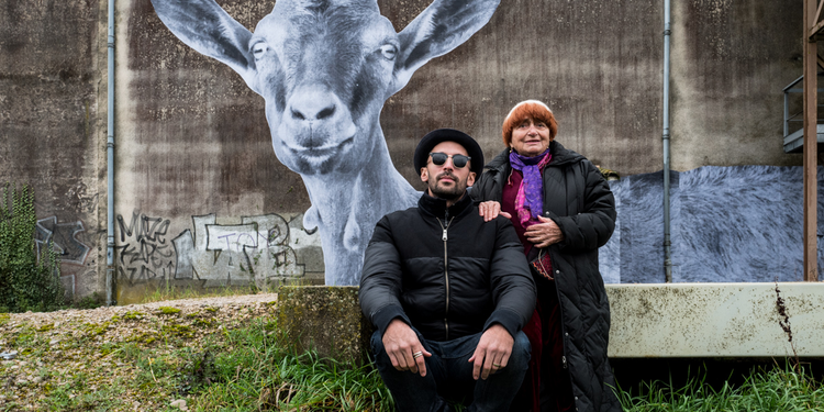 "Muralist and photographer JR and actress Agnès Varda in ""Faces Places"""