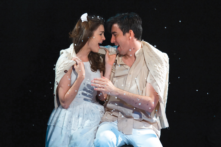 "FOREVER YOUNG. Max Crumm as Matt and Samantha Bruce as Luisa in ""The Fantasticks"""