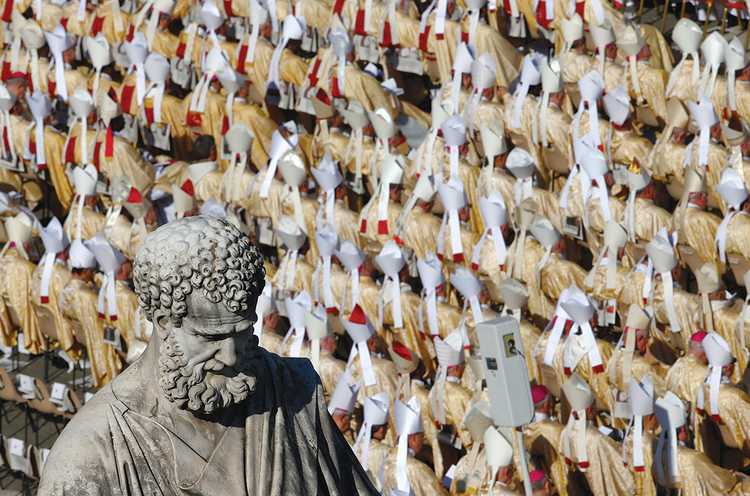 TAKE YOUR SEATS. Bishops and cardinals attend the beatification of Pope Paul VI.