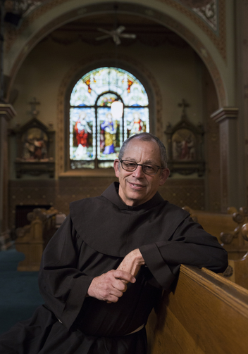Father Ken Laverone is current vice postulator for the sainthood cause of Blessed Junipero Serra and an advocate of the Spanish missionary. He is pictured at St. Francis of Assisi Church in Sacramento, Calif.