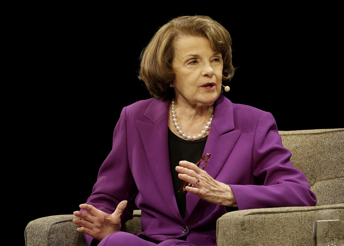 Sen. Dianne Feinstein, seen here at a San Francisco appearance on Aug. 29, was one of three Democrats who questioned judicial nominee Amy Coney Barrett about her Catholic beliefs. (AP Photo/Jeff Chiu)