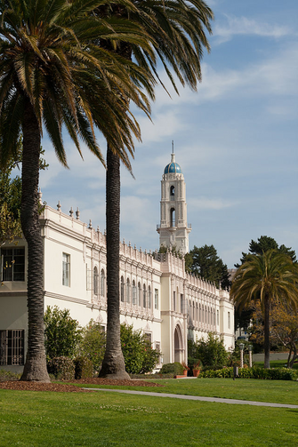 Founders Hall on the campus of the University of San Diego