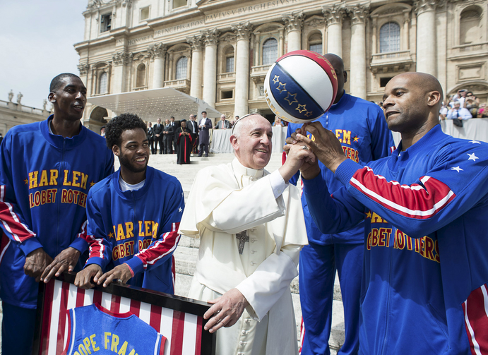 Whose got time for some b-ball? Francis says yes after Sunday Mass and time with family and friends.