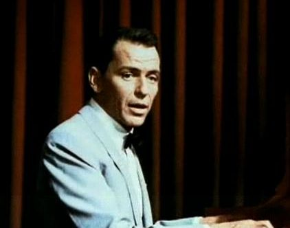 Screenshot of Frank Sinatra from the trailer for the film Pal Joey, 1957 (Photo from Wikimedia Commons)