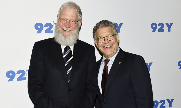 Sen. Al Franken, D-Minn., right, and former talk show host David Letterman arrive for their conversation at 92Y in New York. (Photo by Evan Agostini/Invision/AP, File)