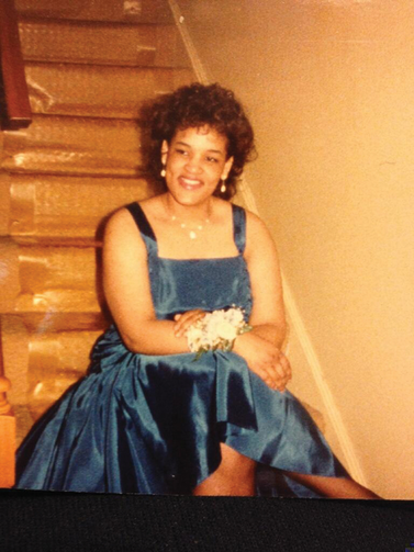 Lynn Fulmore at her 8th-grade formal