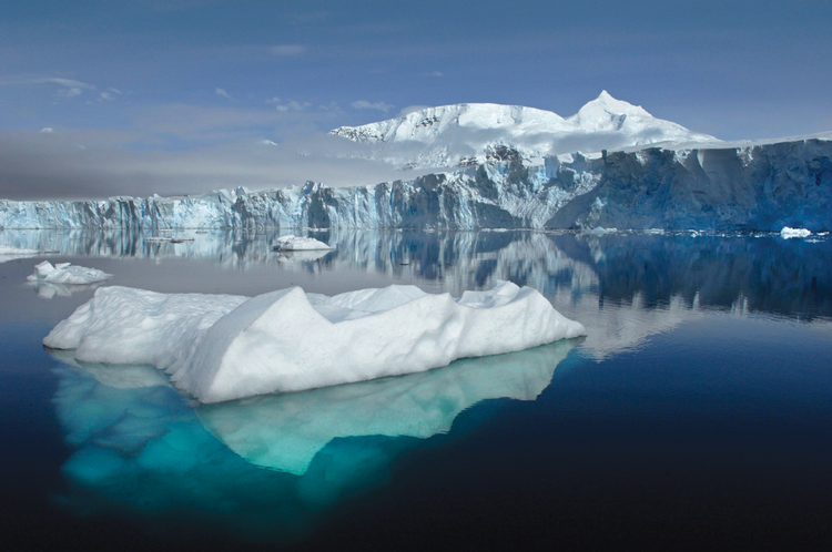 The Sheldon Glacier is melting due to climate change off Adelaide Island, Antarctica. (CNS photo/NASA handout via Reuters)