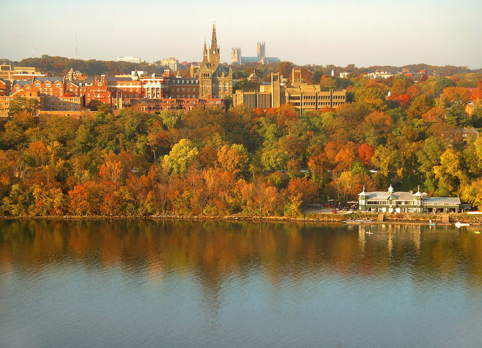 The Georgetown campus. (Wikicommons)
