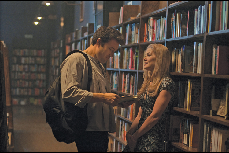 "BEFORE THE FALL. Ben Affleck and Rosamund Pike in ""Gone Girl."""