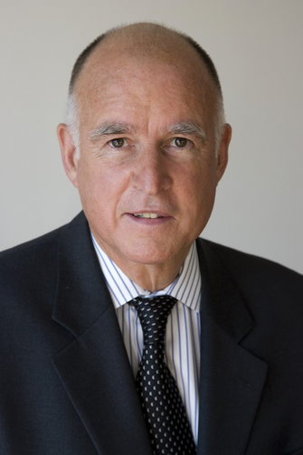 Jerry Brown's official picture as Attorney General and as Governor. Courtesy of Wikipedia.