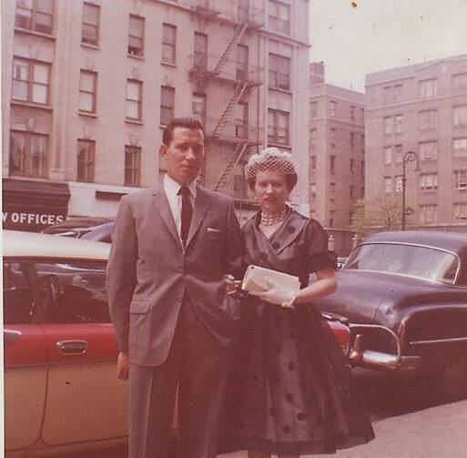 Harry and Ellen McAuley, Newly Married, Washington Heights, New York City circa 1950s