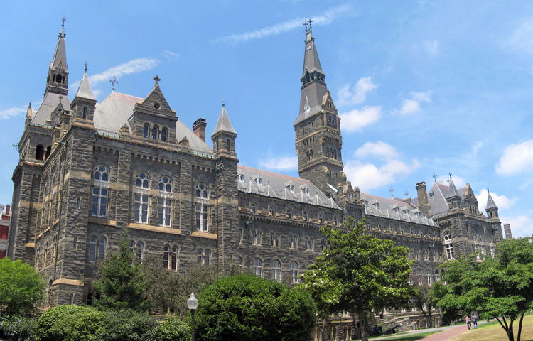 Healy Hall at Georgetown University. Courtesy of Wikipedia.