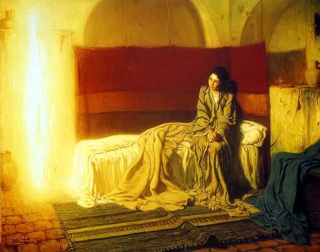 "Henry Ossawa Tanner, ""The Annunciation,"" 1898, Philadelphia Museum of Art."