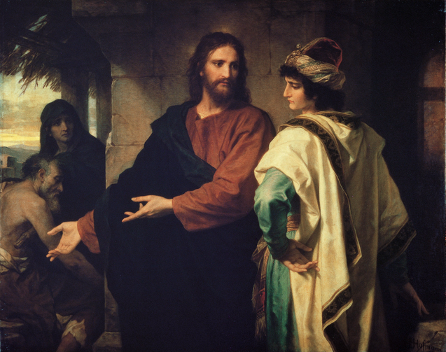 """Christ and the Rich Young Ruler"" by Heinrich Hofmann. Courtesy of Wikipedia."
