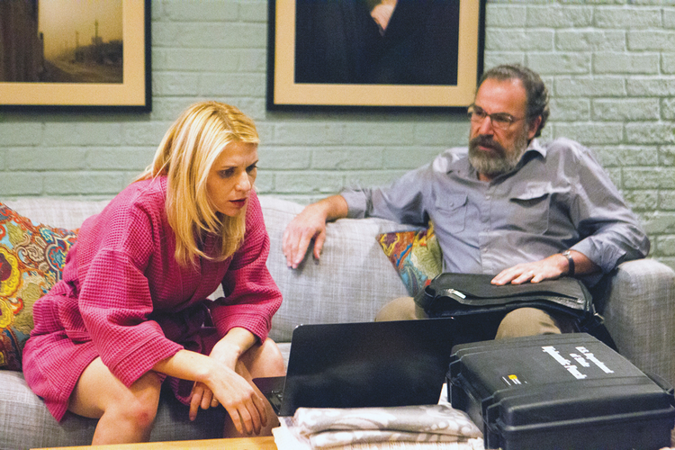 "Clare Danes and Mandy Patinkin in ""Homeland."""