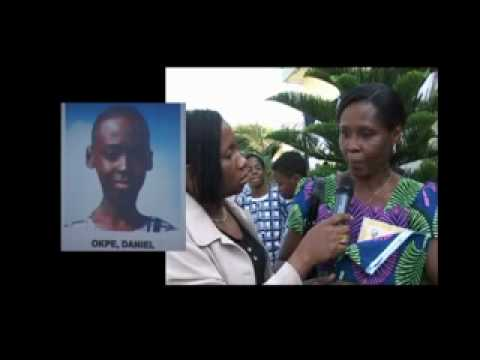 Mrs. Patricial Okpe lost her son in the plane crash (Screen shot of Youtube video)