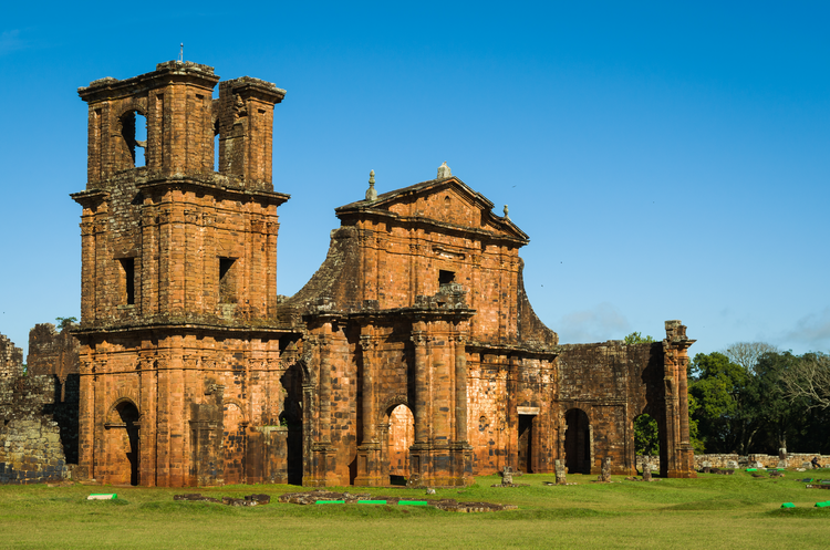 The ruins of São Miguel das Missões, a 17th-century Jesuit mission in Rio Grande do Sul, Brazil, now preserved as a World Heritage Site by the United Nations. (iStock/Thiago Santos)