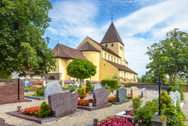 Cemetery by old church of St George in Reichenau Island, Germany. iStock photo