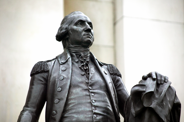 A statue of George Washington in London reminds us that all empires
