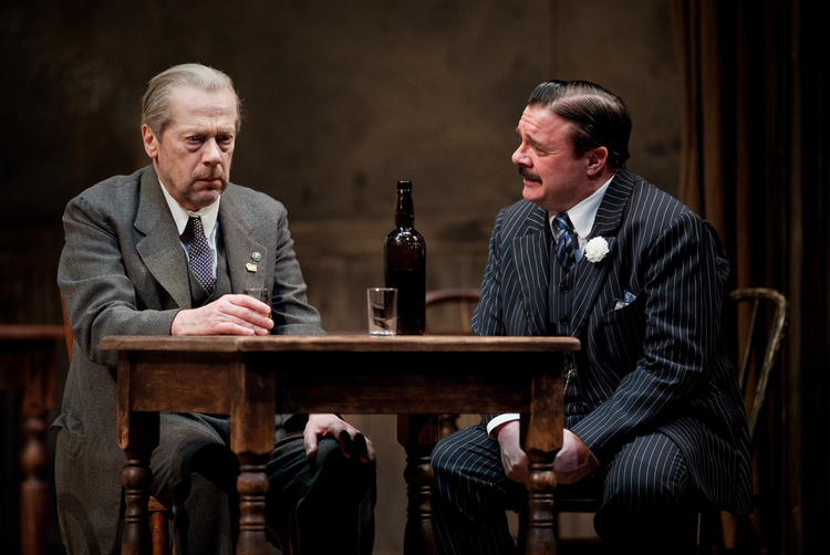 "Stephen Ouimette and Nathan Lane in ""Iceman Cometh."""