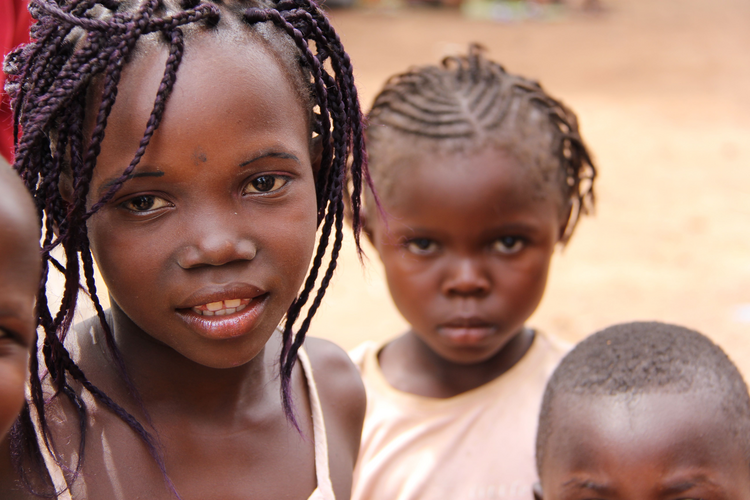 Children sheltered at a camp for families displaced by violence in Bangui, Central African Republic (Kevin Clarke)