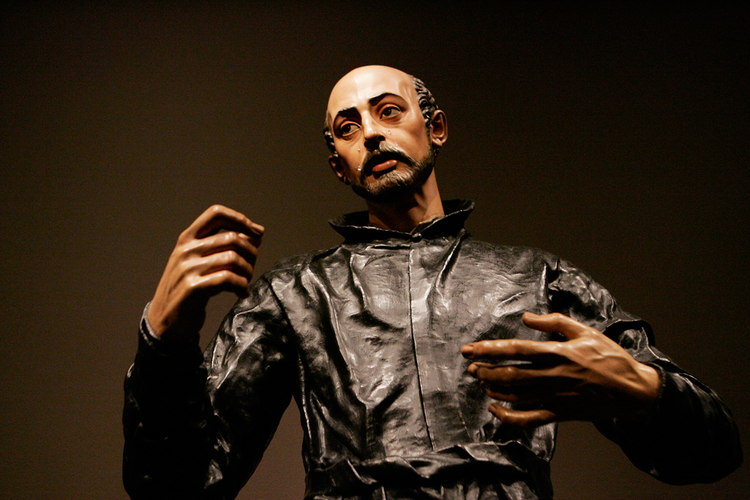 "The sculpture ""Saint Ignatius Loyola,"" by Juan Martinez Montanes and Francisco Pacheco."