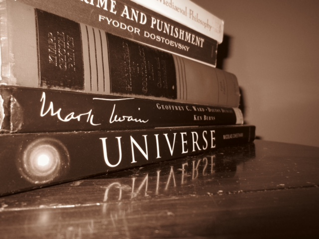 Stack of Books. Photo by Matt Emerson
